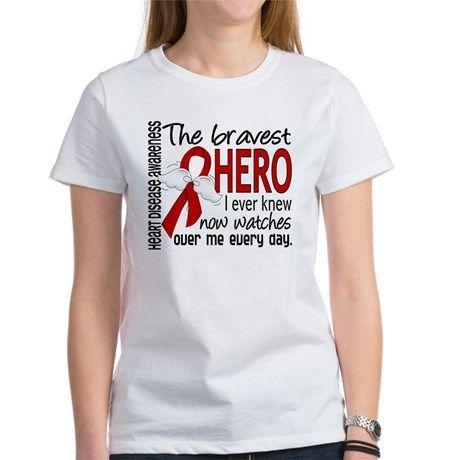 Bravest Hero I Knew Heart Disease Women's T-Shirt