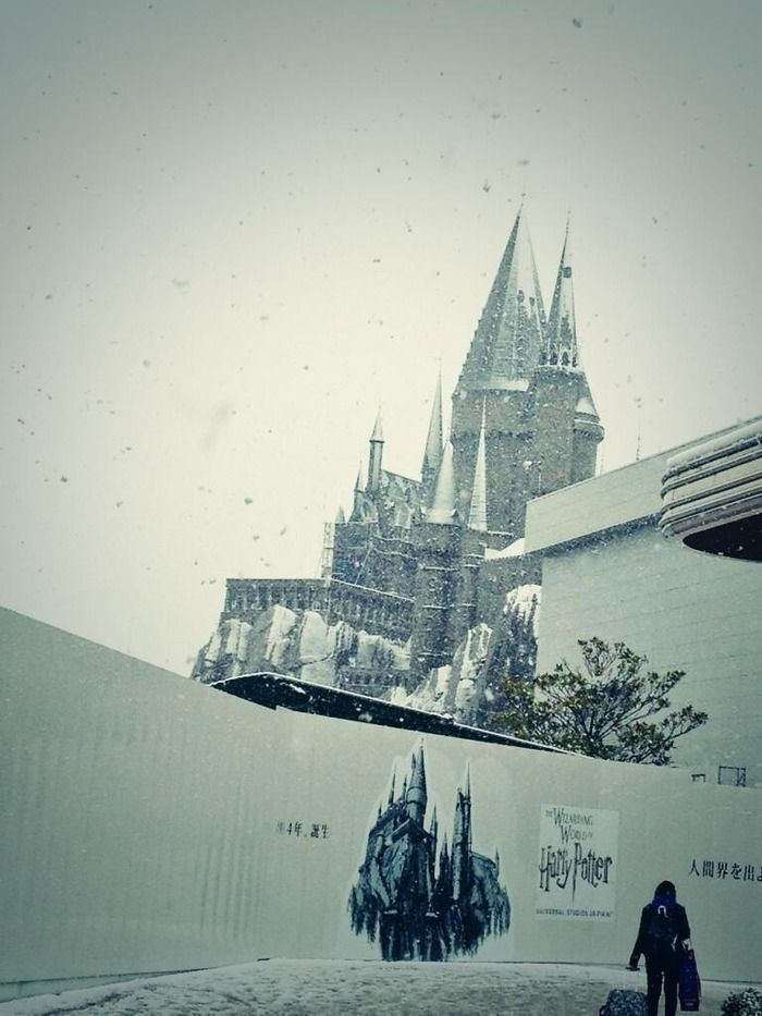 USJのホグワーツに雪が降りリアルホグワーツな感じに! : ハムスター速報