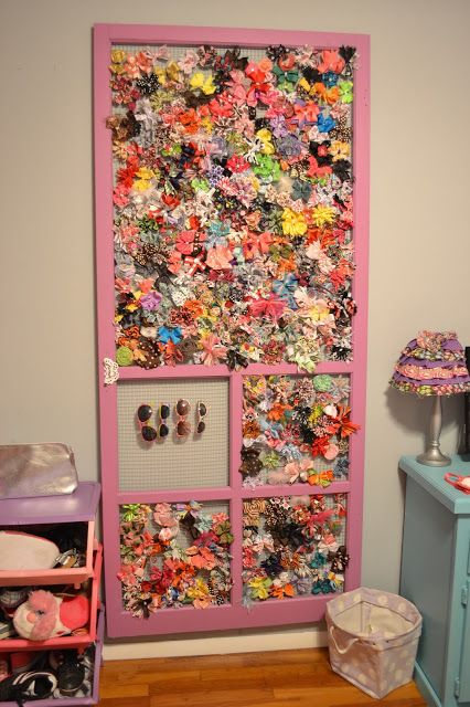 See Girls Blog: Hairbow door-- this is a very likely outcome for the addiction I have to making hairbows...