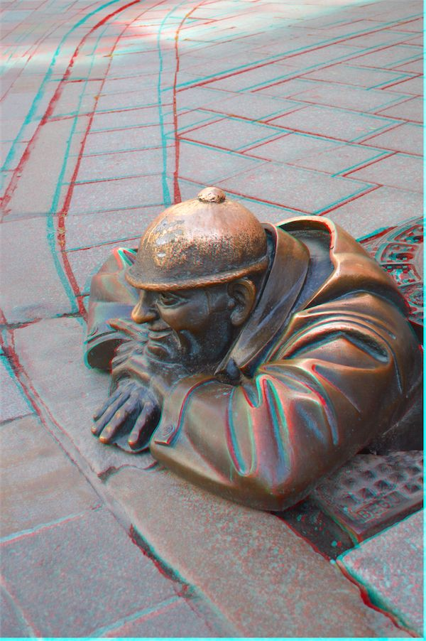 Working on the Bratislava collection of 3D photos which will be available to members on http://3dphotoexplorer.com This is called the Girl Watcher in the Old Town.