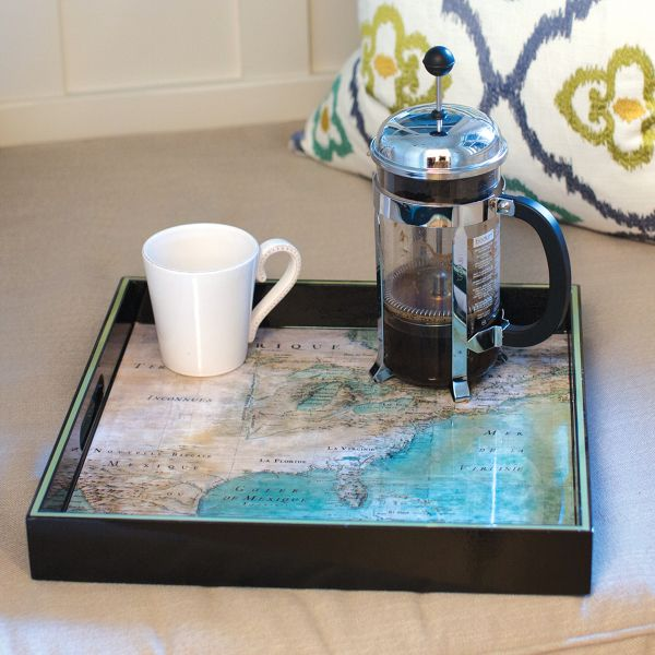 America 1680 Map Serving Tray