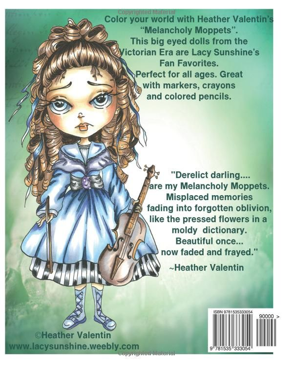 amazoncom lacy sunshines melancholy moppets coloring book volume 21 victorian big eyed girls and ladies adult and all ages coloring book lacy - Color Books For Girls
