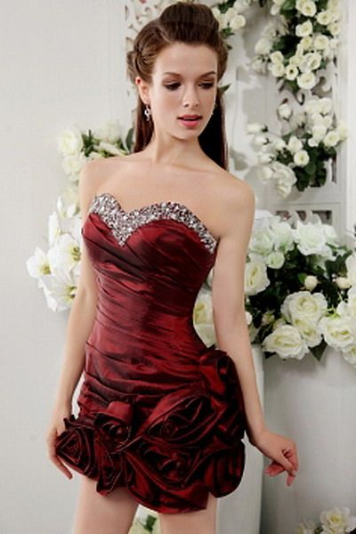Brown Classic Princess prom Gown - Order Link: http://www.thebridalgowns.com/brown-classic-princess-prom-gown-tbg7278 - SILHOUETTE: Princess; SLEEVE: Sleeveless; LENGTH: Short; FABRIC: Satin; EMBELLISHMENTS: Beading , Crystal , Ruffles - Price: 175USD