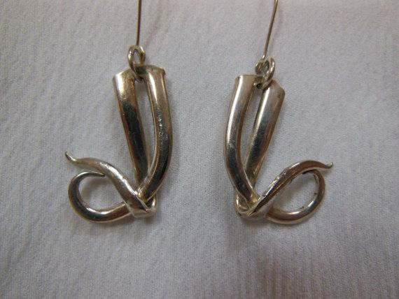 Love Waiting  Antique Fork Earrings by WoodsEdgeJewelry on Etsy