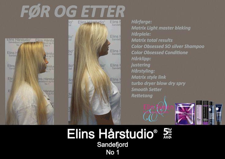 Langt lyst hår blonde striper