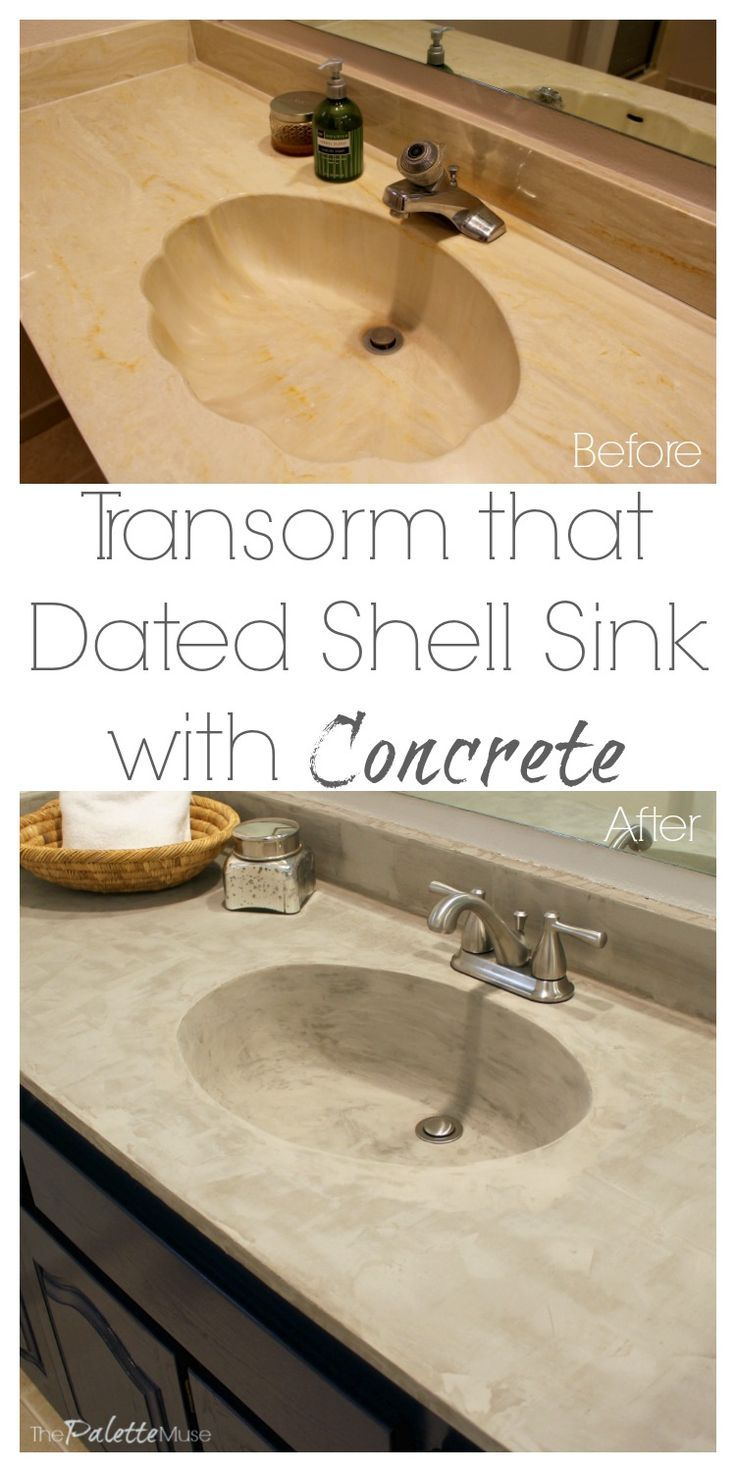 You've seen concrete countertop makeovers, but did you know you can use the concrete to fill in a scalloped shell sink? Save hundreds with this DIY secret!