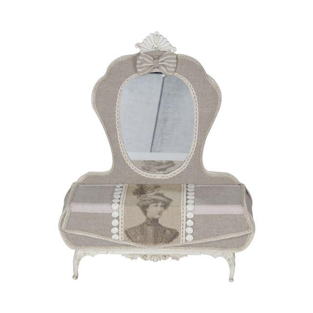 Шкатулка для ювелирных изделий Victorian текстиль/полистоун Будуар 28х9х36см