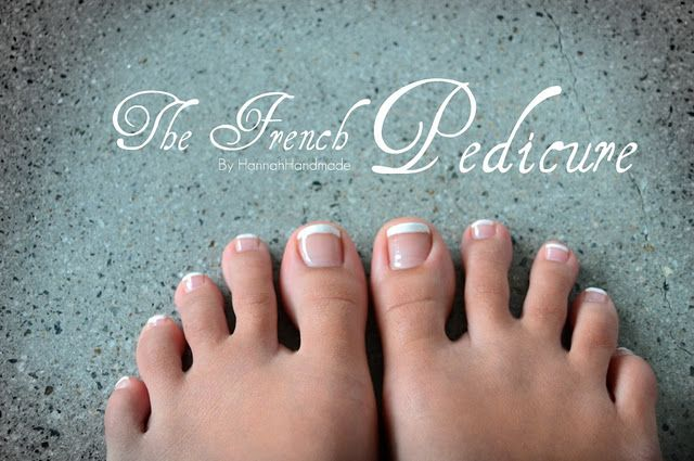 The French Pedicure....SHELLAC (doesn't come off for a month and is better for your nails)