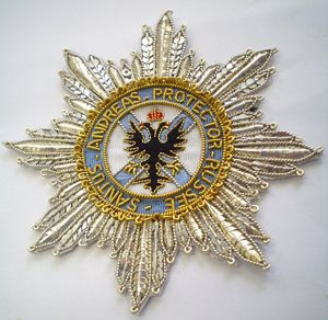 Hand and Lock.  Order of St. Andrew First -Called Star (Russian)