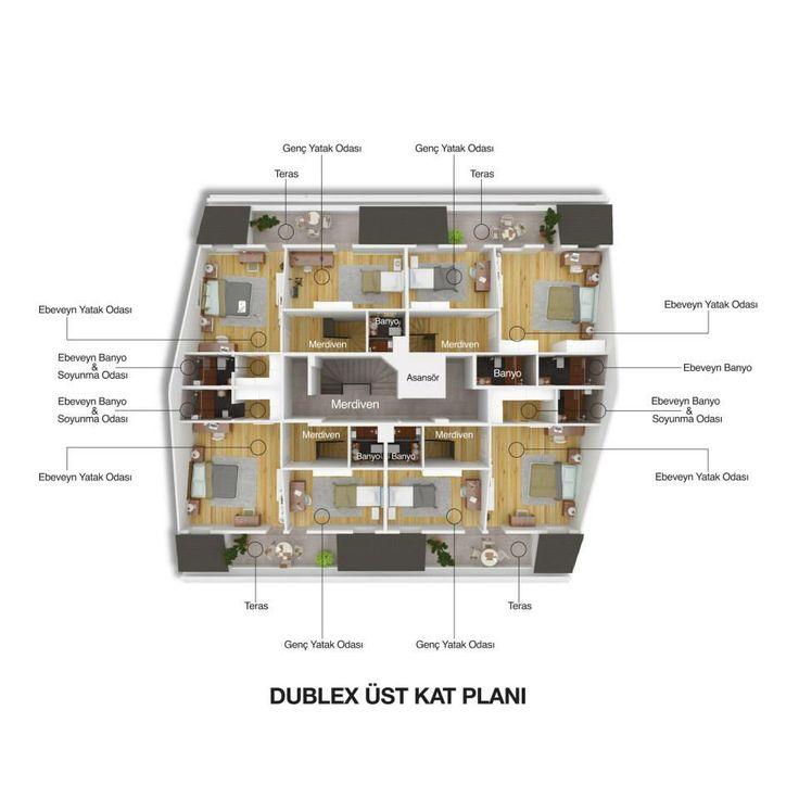 SeraPark 34  Dublex Üst Kat Planı