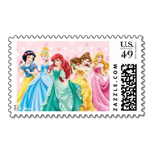 Disney Princess It's a Girl Postage Stamp. This great stamp design is available for customization or ready to buy as is. Of course, it can be sent through standard U.S. Mail. Just click the image to make your own!