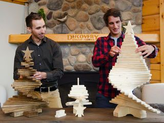 A pair of local entrepreneurs has reinvented the Christmas tree.