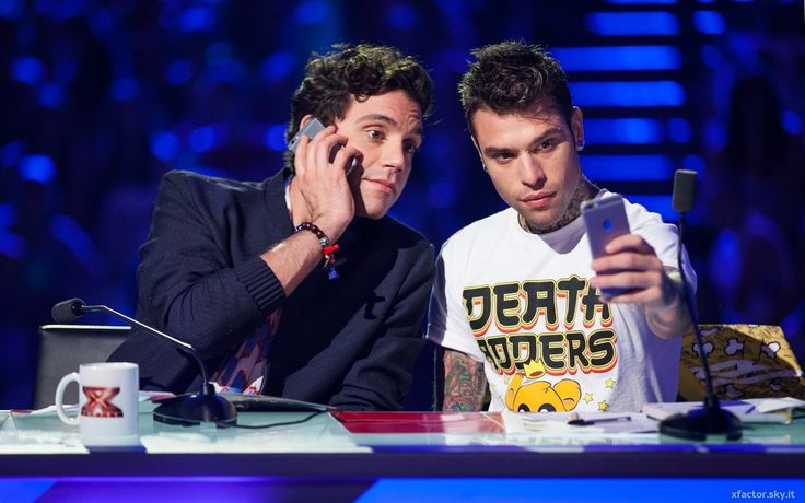 Mika with Fedez in Rome (June 29th, 2015) XF9 Auditions