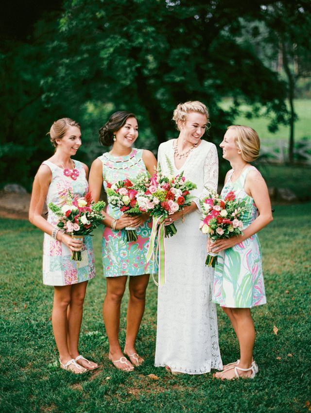 3 Ways To Style A Lilly Pulitzer Wedding Bridesmaids Pinterest Bridesmaid And Dresses
