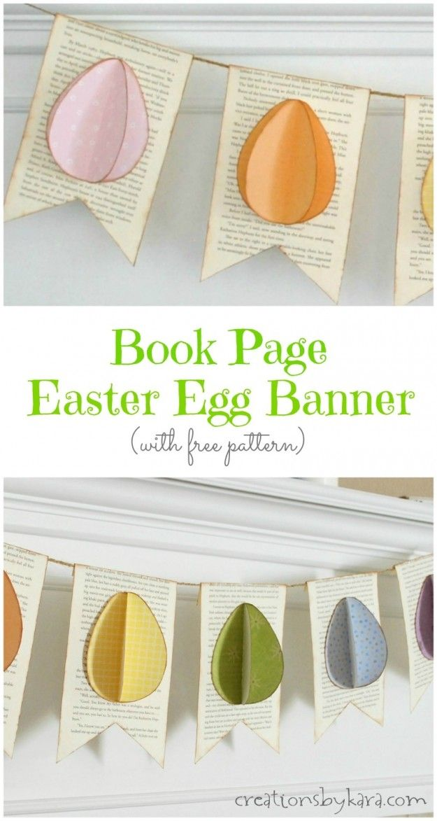 This darling Easter Egg Banner is so easy to make, and looks great with any Easter decor!