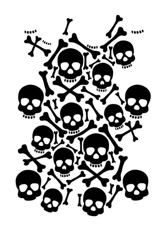 Skulls Instant Download Printable