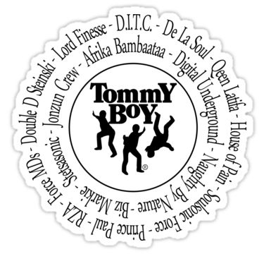 Tommy boy records hip hop artists sticker by ocansey