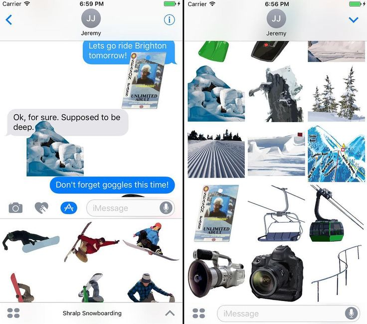 @therealjp has created a custom iMessage sticker pack for snowboarders. Let your friends know how stoked you are to shre...