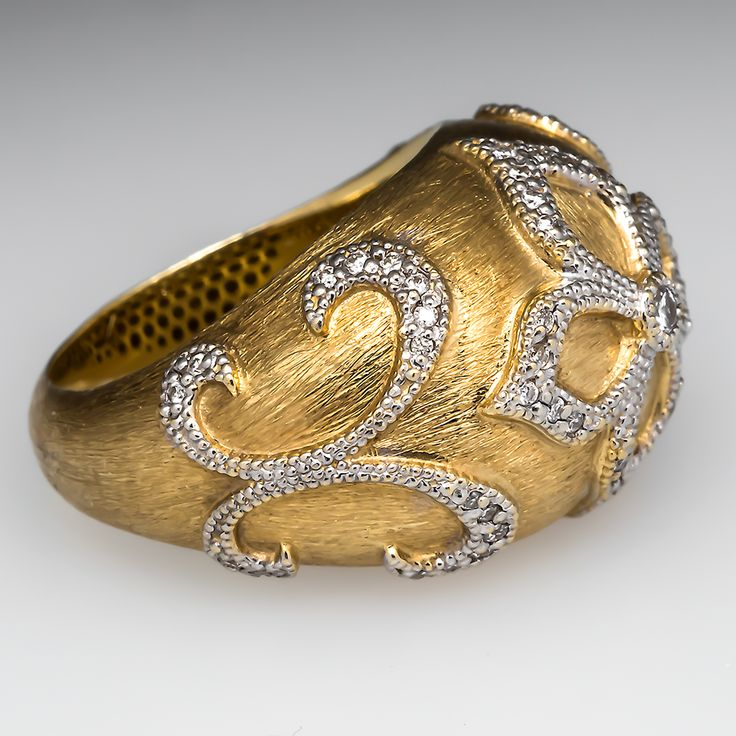 Jude Francis Wide Band Diamond Ring 18K Two-Tone Gold $6,550 Retail