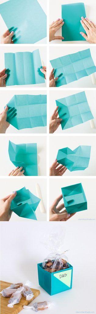 6 blue paper gift-box