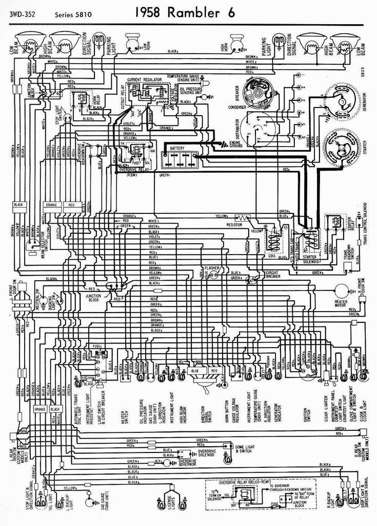 wiring diagrams of 1958 rambler 6 series 5810 Diagram