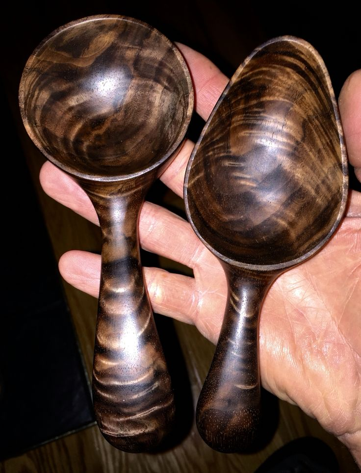 Burled Walnut Spoons by Paul Flatt