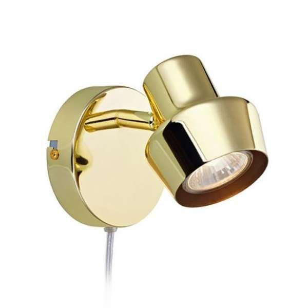 Lampa ścienna w kolorze mosiądzu z możliwością regulacji będzie rewelacyjnie wyglądała w Twojej sypialni. #mlamp #oświetlenie #reflektor #kinkiet #mosiądz #design #wystrój #wnętrz