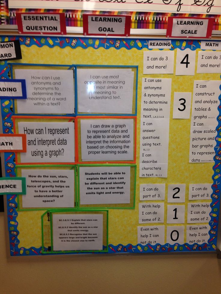 293 Best Learning Targets Images On Pinterest Classroom