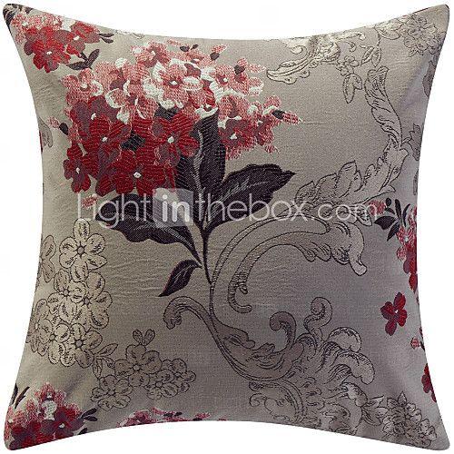 Tradisjonell Floral Jacquard Dekorative Pillow Cover - NOK kr67