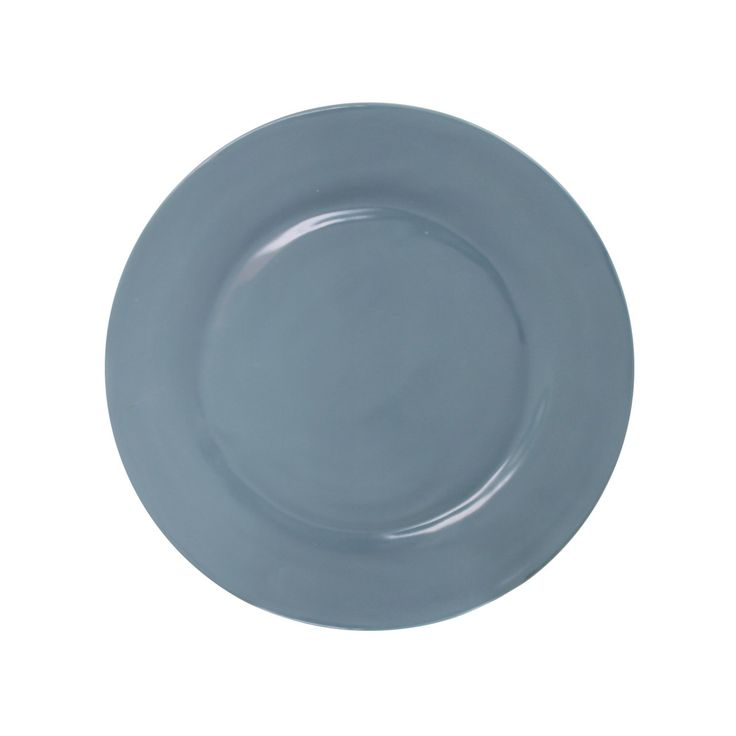 ... Alaskan Blue   Salad Plates  A Case Of 8 9 Salad Or Dessert Dishes In  Rustique Alaskan Blue. Melamine Is Extremely Durable And Lightweight  Dinnerware ...