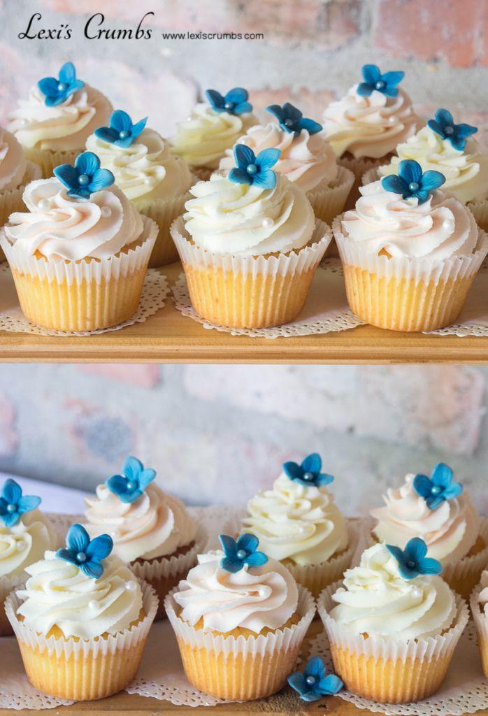Blush & blue cupcakes www.lexiscrumbs.com