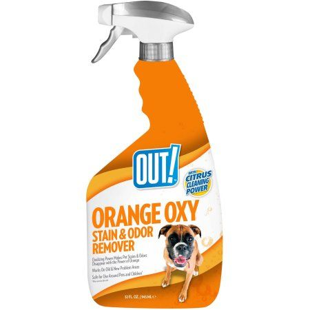 Out! Pet Orange Oxy Stain And Odor Remover, Black