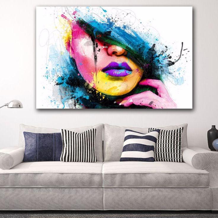 Compra Moderno Abstracto Mujer Cuadro Pintura Mural Arte Decoración Hogar online | Linio Colombia