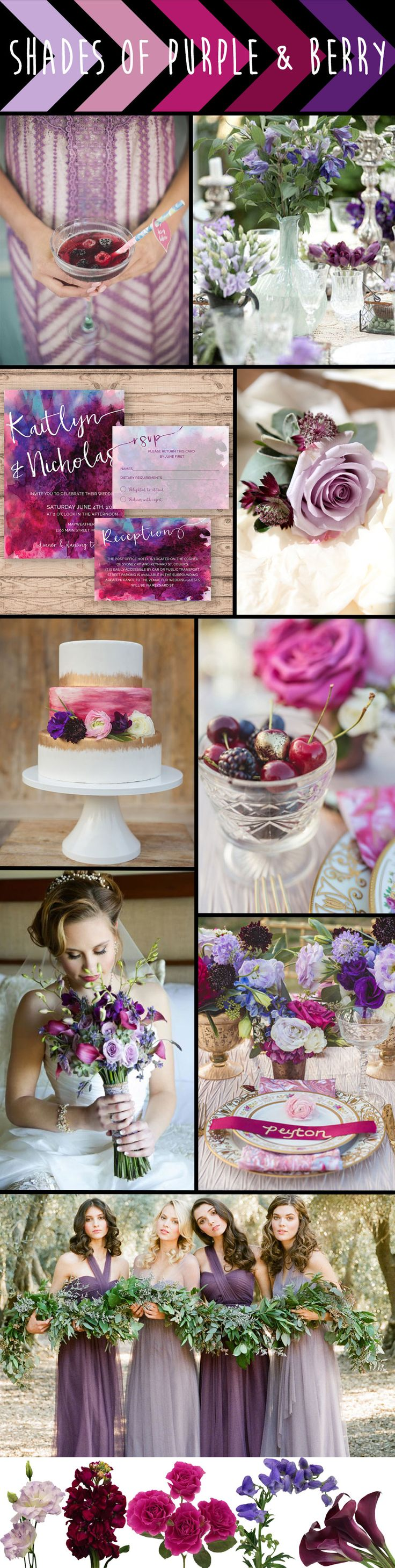 FiftyFlowers - Shades of Purple & Berry Wedding Inspiration