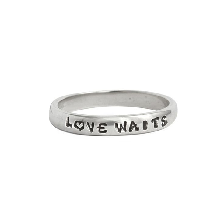 Purity Rings for girls are special.  Create a personalized purity ring band with True Love Waits and create a christian purity ring.