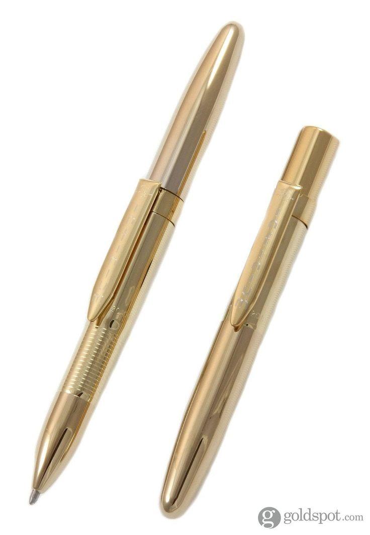 Fisher Executive Styling - INFG-4 Gold Titanium Nitride Black Ink Medium Point Ballpoint Space Pen