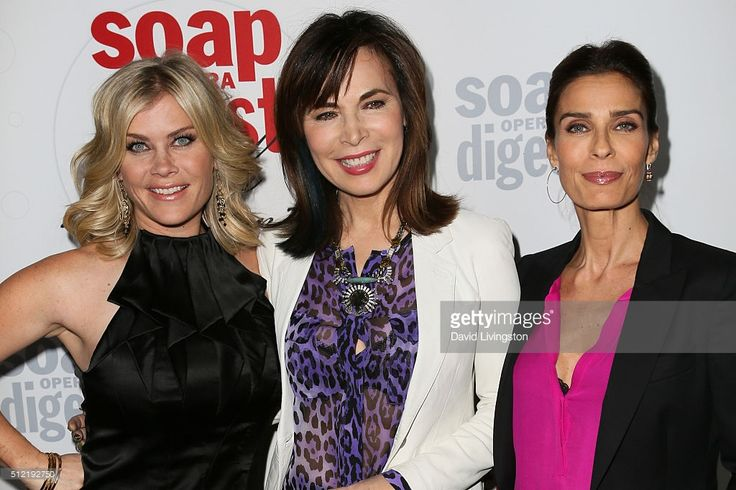Alison Sweeney, Lauren Koslow and Kristian Alfonso arrive at the 40th Anniversary of the Soap Opera Digest at The Argyle on February 24, 2016 in Hollywood, California.