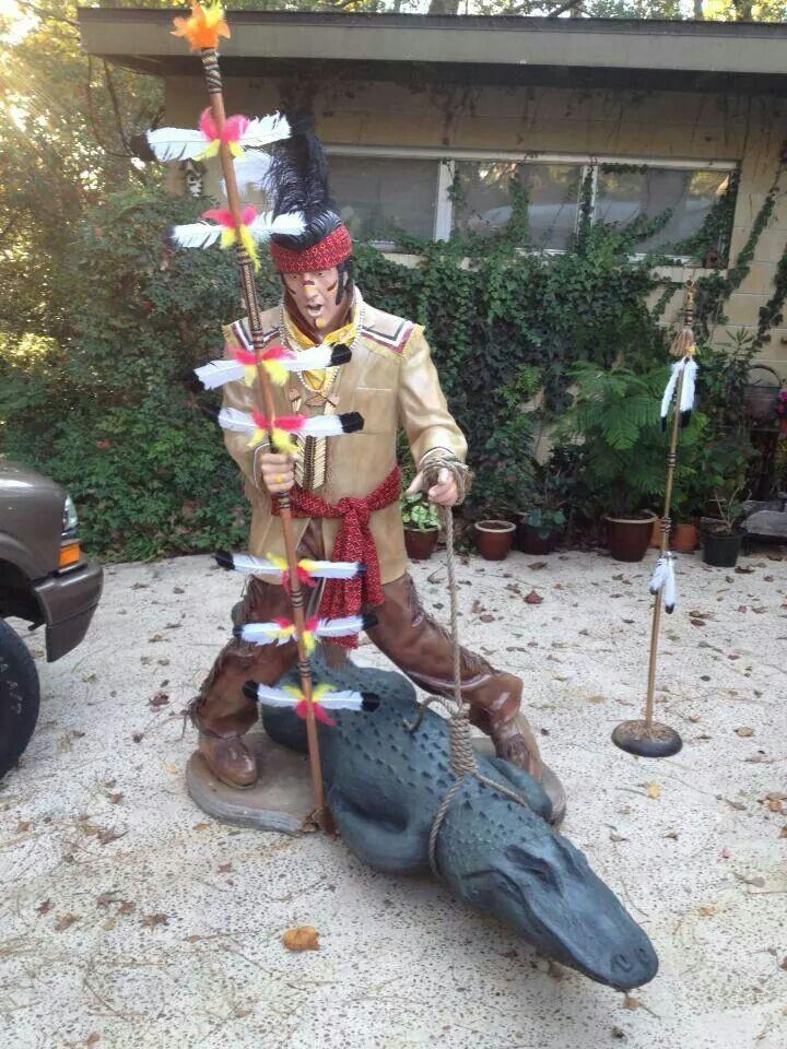 M Hosford painted Elvis statue to look like FSU Seminole Chief Osceola(King Osceola) for the FSU vs UF