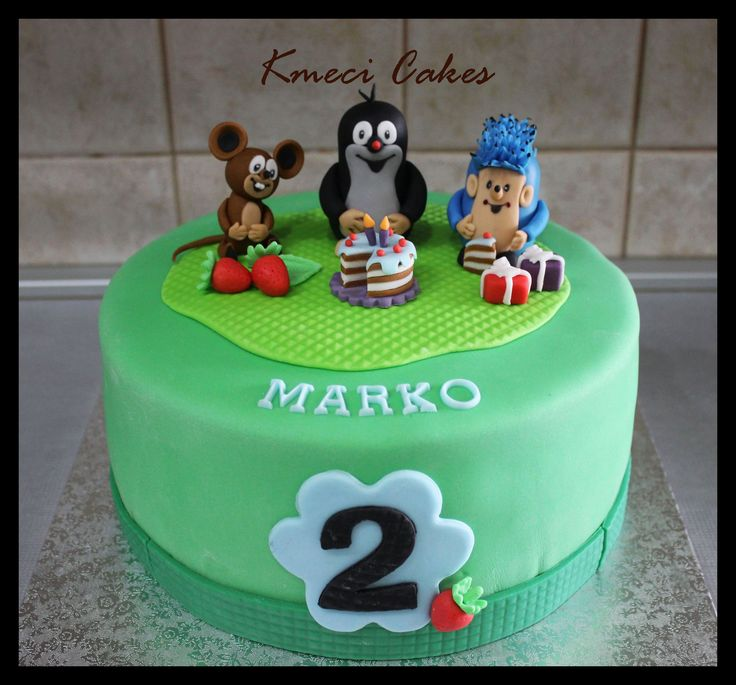 krtek, mole and friends cake