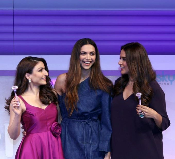 Deepika Padukone, Neha Dhupia And Soha Ali Khan Unveil New Gillette Venus Breeze Photos - Pics 317722 - Boldsky Gallery