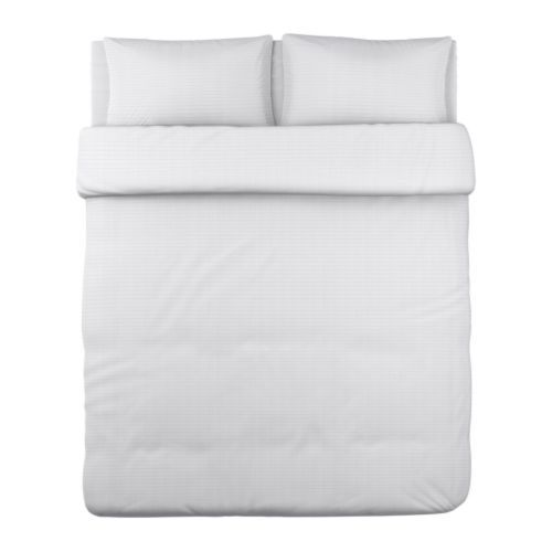 ofelia vass duvet cover and pillowcases white king ikea