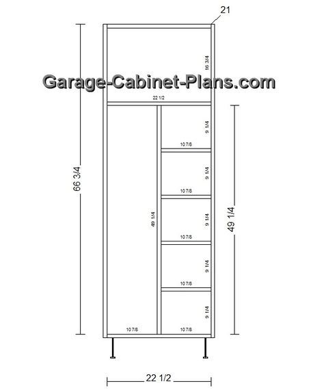 Utility Cabinet Plans - 24 Inch Broom Closet Dimensions