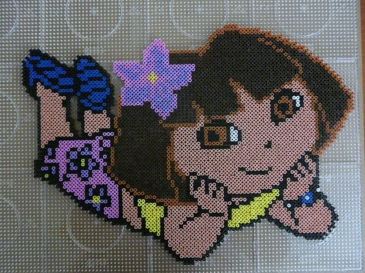 Dora the explorer hama beads (12 pegboards) by Ilse 2005