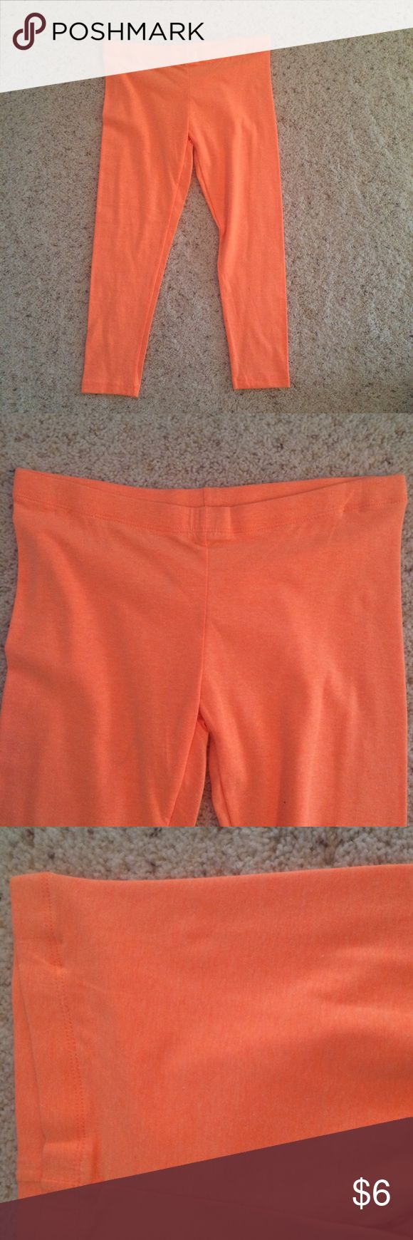Neon Coral Capri Leggings Cotton Jersey Stretch LAST SIZE LEFT! Beautiful neon coral/tangerine Capri length leggings made out of a cotton spandex blend. Super comfy and versatile. Warm in the winter but breathable in warm weather as well. These hit at mid calf. Elastic waistband. Carried in my boutique. Sizing runs a little small. Large - 8/10/12 Medium - 4/6/8 Small - 0/2/4 Zenana Outfitters Pants Leggings