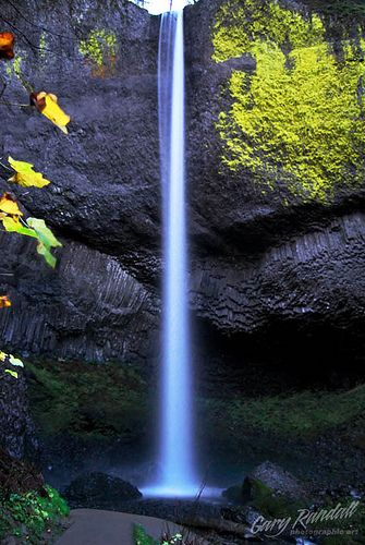 Latourell Falls on the historic Columbia River Highway, Oregon.