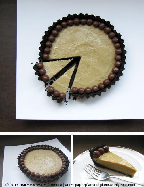 malted milk custard tart with oreo crust  OOOOH MY !!!!!