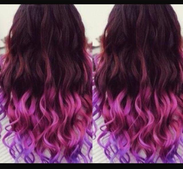 Pink and purple kool-aid hair dye