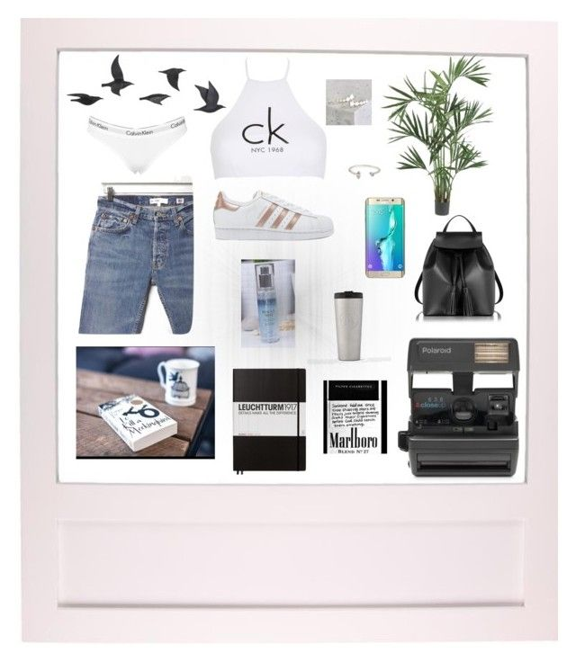 """""""Set #33"""" by jeongmina on Polyvore featuring Jayson Home, Calvin Klein, Nearly Natural, Impossible, RE/DONE, adidas Originals, Samsung, Le Parmentier, Leuchtturm1917 and Jeweliq"""