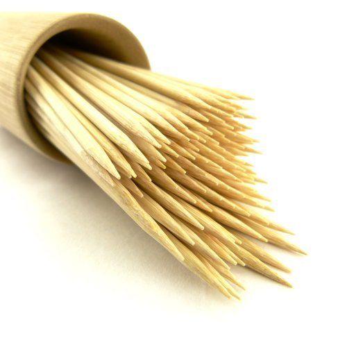 """ThinkBamboo Premium Round Bamboo Skewers 4.1"""" X 3mm - 1,000pc by ThinkBamboo - Skewers. $9.88"""