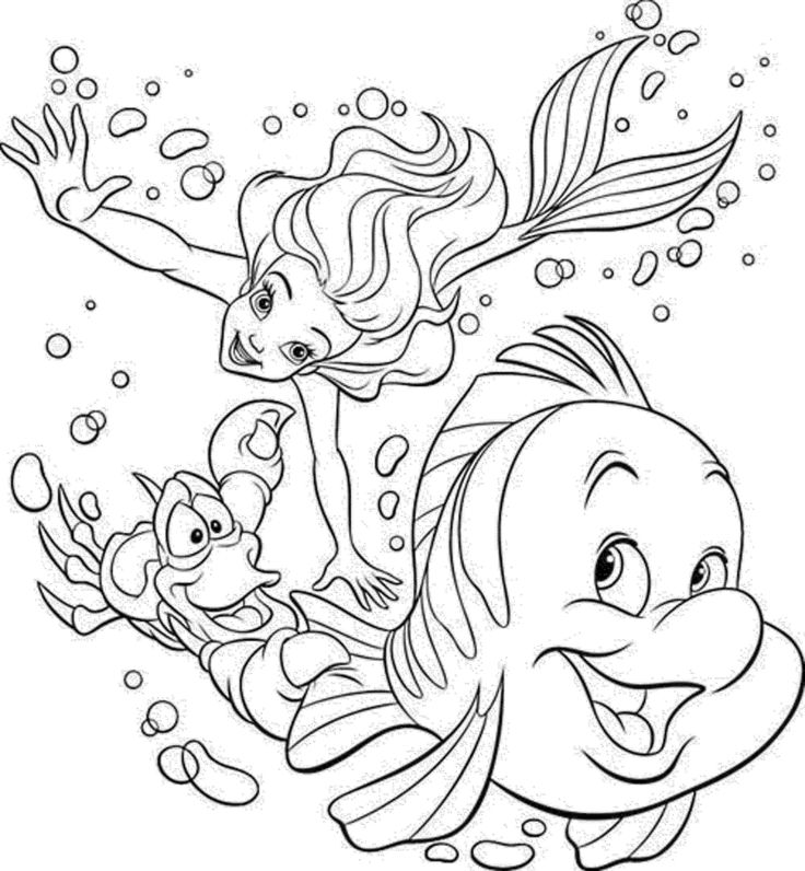 Mermaid Coloring Pages for Adults Beautiful Free Mermaid ...